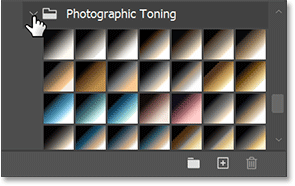 The Photographic Toning gradient presets in Photoshop