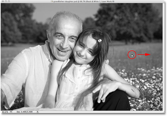 Click and drag directly inside the image to lighten or darken certain areas. Image © 2009 Photoshop Essentials.com.