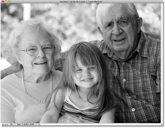 Photoshop black and white conversion image. Image © 2009 Photoshop Essentials.com