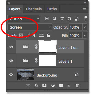 A copy of the Levels adjustment layer appears above the original in the Layers panel.