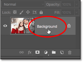 Unlocking the Background layer in Photoshop CS6.