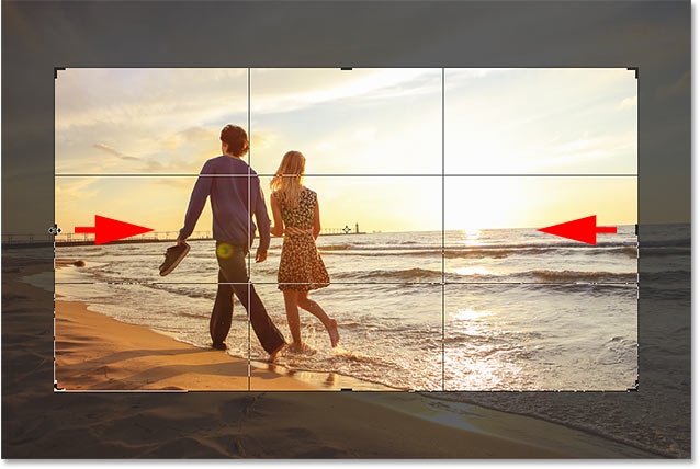 Photoshop Crop Tool tips: Resizing the crop border from its center