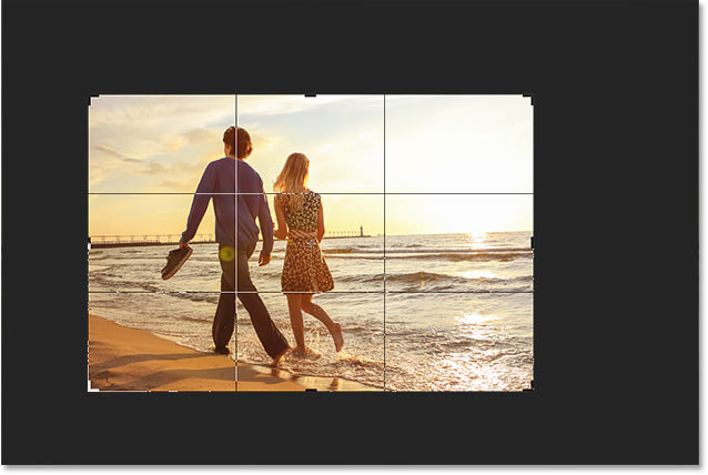 Photoshop Crop Tool tips: Press H to hide the cropped area