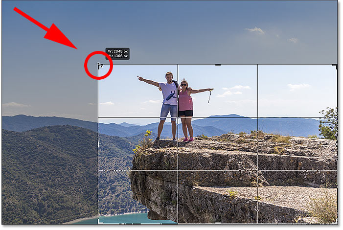 Locking the original aspect ratio of the crop in Photoshop