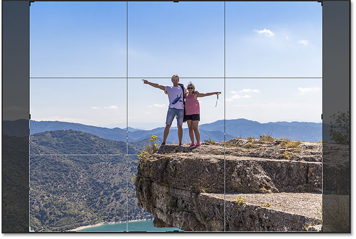 The Rule of Thirds grid for the Crop Tool in Photoshop