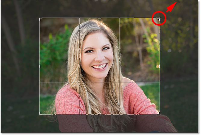 Resizing the crop border