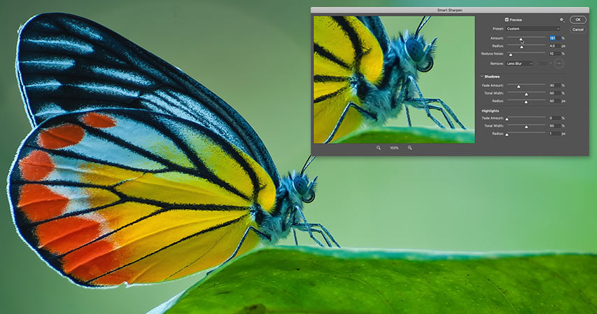 Sharpen images with Smart Sharpen in Photoshop