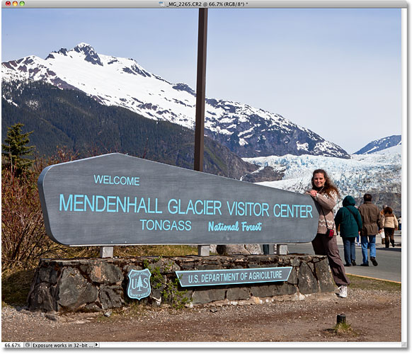 The Mendenhall Glacier Visitor Center. Image © 2010 Steve Patterson, Photoshop Essentials.com