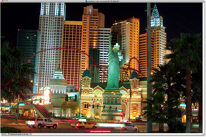 The New York New York Hotel and Casino in Las Vegas. Image © 2010 Steve Patterson, Photoshop Essentials.com