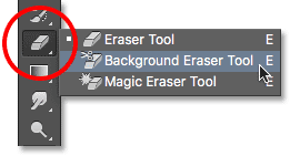 The Background Eraser Tool in Photoshop.