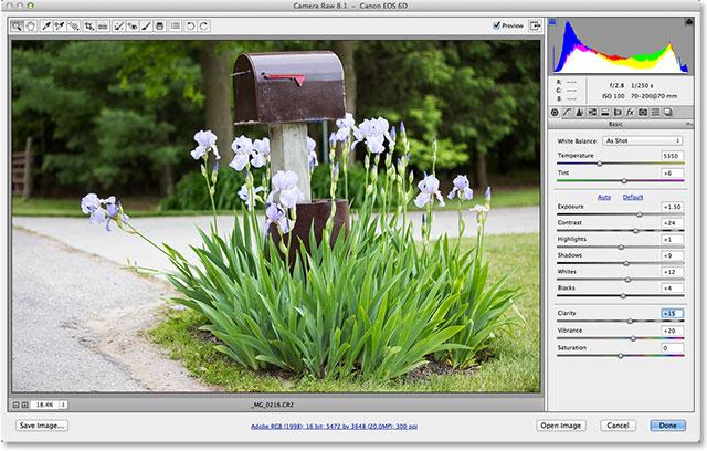 The Camera Raw 8.1 dialog box. Image © 2013 Photoshop Essentials.com