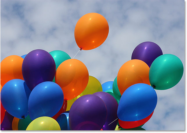 A photo of balloons. Image #753663 licensed from iStockphoto by Photoshop Essentials.com