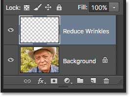 A new layer named 'wrinkles' appears in the Layers panel. Image © 2016 Photoshop Essentials.com