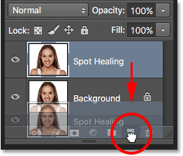 Dragging the Background layer onto the New Layer icon while holding Alt (Win) / Option (Mac).