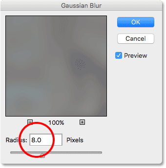 The Gaussian Blur filter.