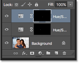 The second adjustment layer appears above the first one.