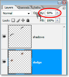 Lower the opacity to reduce the sharpening amount