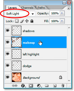 Change the blend mode to Soft Light