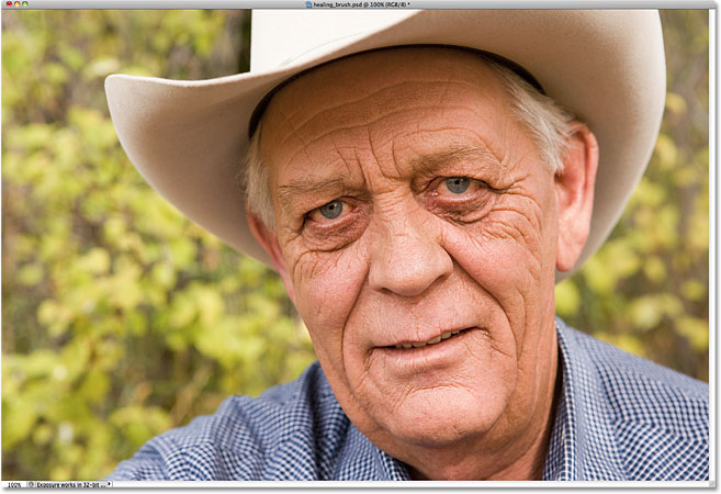 An elderly farmer. Image licensed from iStockphoto by Photoshop Essentials.com