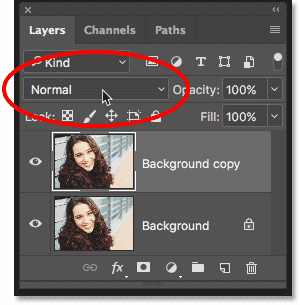 The Blend Mode option is no longer grayed out in the Layers panel in Photoshop