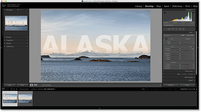 Lightroom's catalog is once again updated with the changes made in Photoshop.