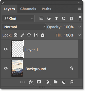The Layers panel showing my previous Photoshop layers.