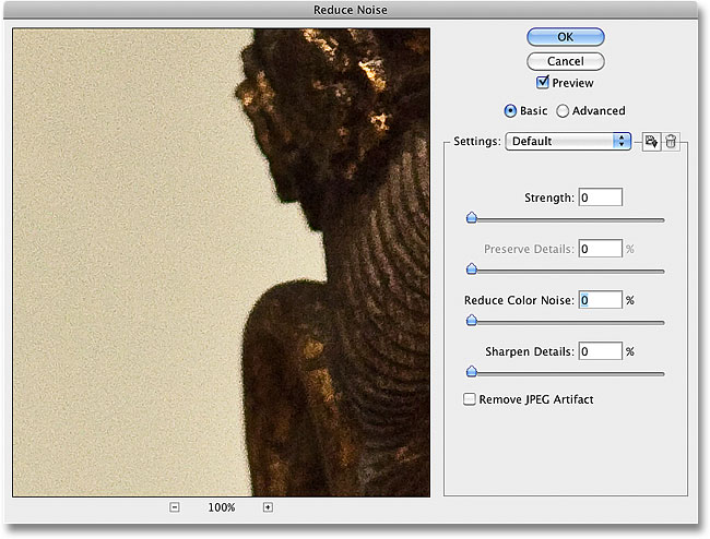 Lots of luminance noise is visible in the image. Image © 2010 Photoshop Essentials.com