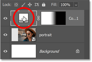 Double-clicking the fill layer's color swatch