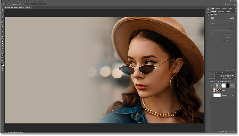 How to fade an image into a background color with Photoshop