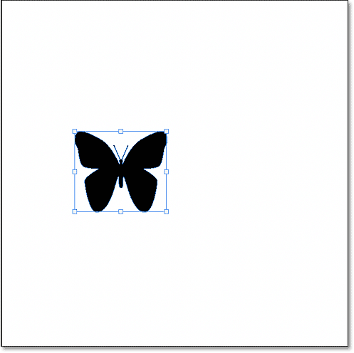 The custom shape appears in the document.