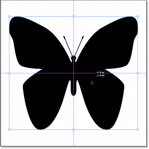 Centering the shape in the Photoshop document