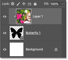 The Layers panel showing the clipping mask