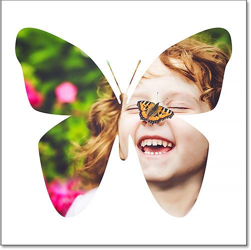 An image inside a shape using Photoshop