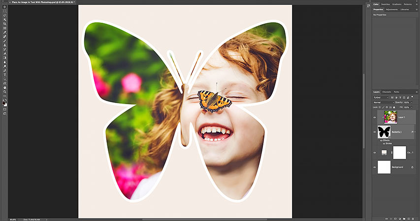 How to fill a shape with a photo in Photoshop 2021