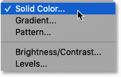 Adding a Solid Color fill layer.