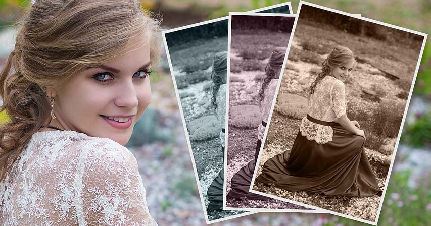 How to convert a photo to monochromatic color in Photoshop tutorial