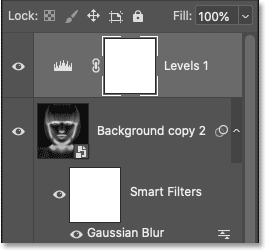 The new Levels adjustment layer in Photoshop's Layers panel