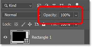 Resetting the shape layer's opacity to 100 percent.