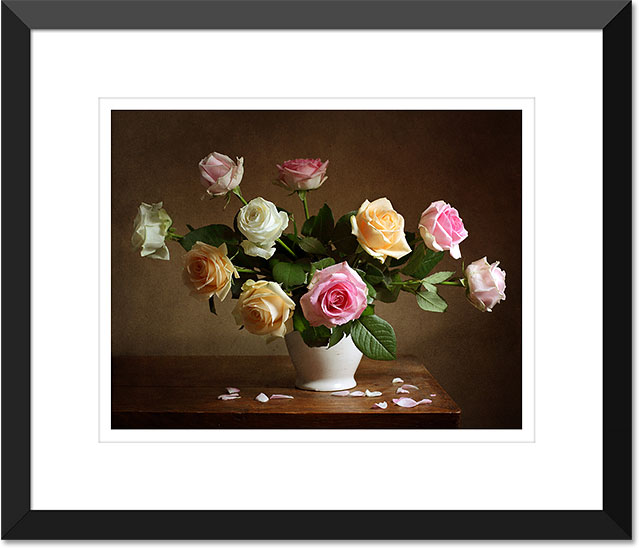 A matted picture frame created in Photoshop.