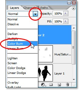 Changing the blend mode of the noise layer to 'Color Burn'.