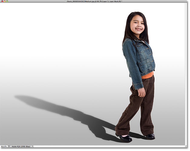 Photoshop cast shadow effect.