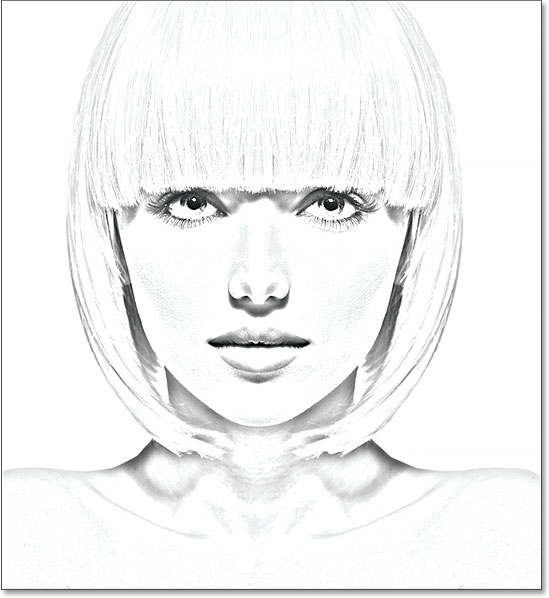 A black and white photo to sketch effect in Photoshop.