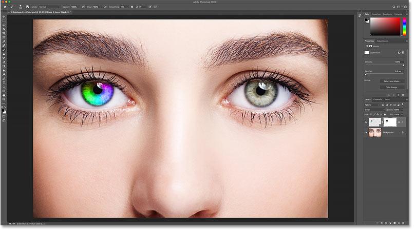 The Rainbow Eyes effect so far.