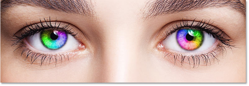 The effect after rotating the angle of the gradient in the right eye