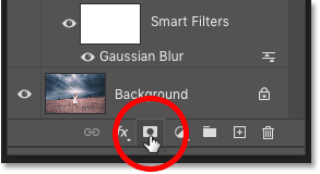 Adding a layer mask in Photoshop's Layers panel