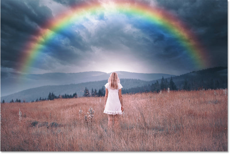 How to add a rainbow to an image with Photoshop