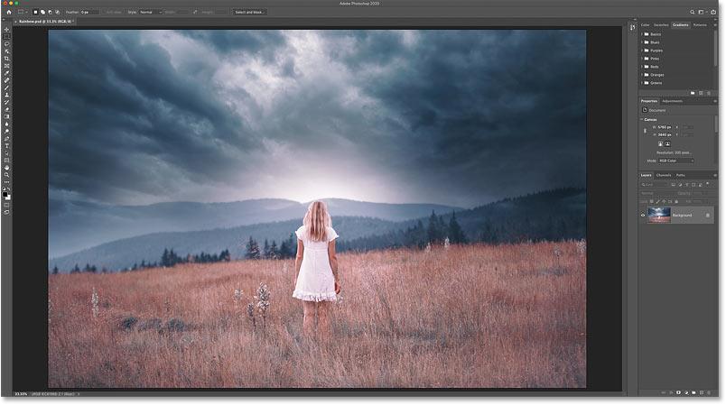 The original photo open in Photoshop. Credit: Adobe Stock