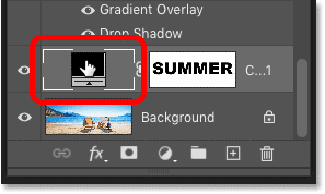 Double-clicking the fill layer's color swatch in Photoshop's Layer Style dialog box