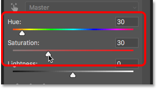 Choosing a color in the Properties panel
