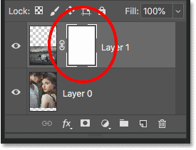 A layer mask thumbnail appears.